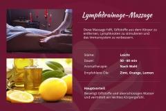 Lymphdrainage-Massage